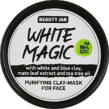 Perfumería y cosmética Mascarilla facial con arcilla blanca y azul - Beauty Jar White Magic