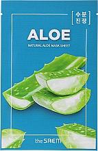 Perfumería y cosmética Mascarilla natural de algodón con extracto de aloe - The Saem Natural Skin Fit Relaxing Mask Sheet Aloe