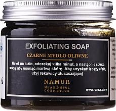 Perfumería y cosmética Jabón exfoliante natural negro con aceite de oliva - Namur Black Exfoliating Soap