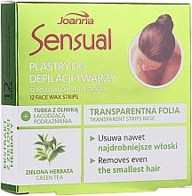 Perfumería y cosmética Bandas de cera depilatoria faciales con extracto de té verde - Joanna Sensual Depilatory Face Strips With Green Tea Extract