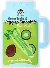 Perfumería y cosmética Mascarilla facial de algodón - Dr. Mola Green Fruits & Veggies Smoothie Sheet Mask