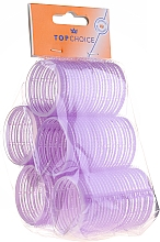 Perfumería y cosmética Rulos para cabello de velcro 41mm, 0416 lila - Top Choice