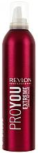 Mousse para cabello de fijación extrafuerte con aminoácidos de trigo - Revlon Professional Pro You Extra Strong Hair Mousse Extreme — imagen N1