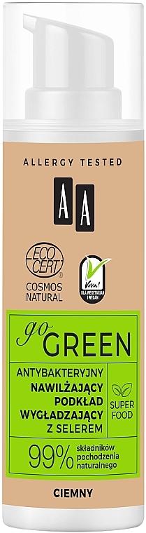Base de maquillaje hidratante con efecto antibacteriano, hipoalergénica - AA Go Green Foundation