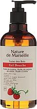 Perfumería y cosmética Gel de ducha con aceites naturales de jojoba, pepino y oliva, aroma a fresa - Nature de Marseille Strawberries Shower Gel