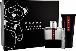 Perfumería y cosmética Prada Luna Rossa Carbon - Set (eau de toilette/100ml + gel de ducha/100ml + eau de toilette/mini/10ml)