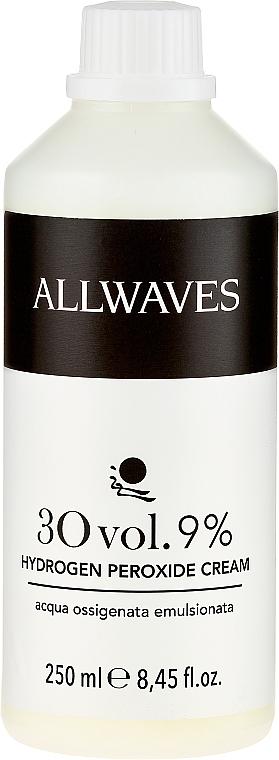 Crema oxidante profesional 30 vol. 9% - Allwaves Cream Hydrogen Peroxide 9%