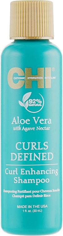 Champú para cabello rizado con jugo de aloe vera y extracto de agave - CHI Aloe Vera Curl Enhancing Shampoo