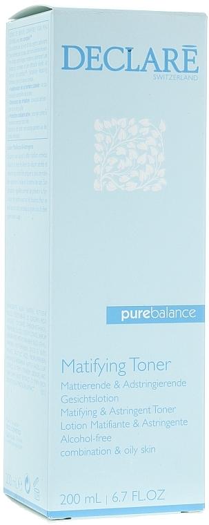 Loción limpiadora efecto mate con ácido salicílico - Declare Pure Balance Matifying & Astringent Toner — imagen N1