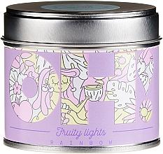 """Perfumería y cosmética Vela aromática ''Arcoíris"""" - Oh!Tomi Fruity Lights Rainbow Candle"""