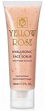 Perfumería y cosmética Exfoliante facial con flores secas de loto y 3 tipos de ácido hialurónico - Yellow Rose Hyaluronic Face Scrub