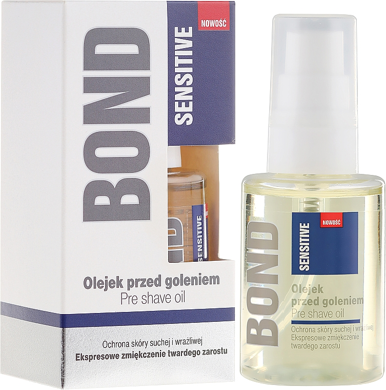 Aceite preafeitado con oliva y almendra dulce - Bond Sensitive Pre Shave Oil