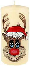 Perfumería y cosmética Vela decorativa, Rodolfo, crema, 7x10cm - Artman Christmas Candle Rudolf