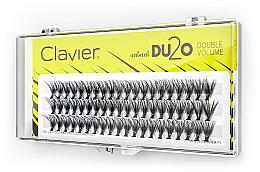 Perfumería y cosmética Pestañas postizas individuales de doble volumen, 10mm - Clavier DU2O Double Volume