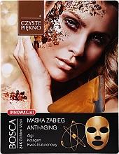 Perfumería y cosmética Mascarilla facial de tejido antiedad con extracto de algas, colágeno y ácido hialurónico - Czyste Piekno Bosca Anti-Aging 24K Golden Mask