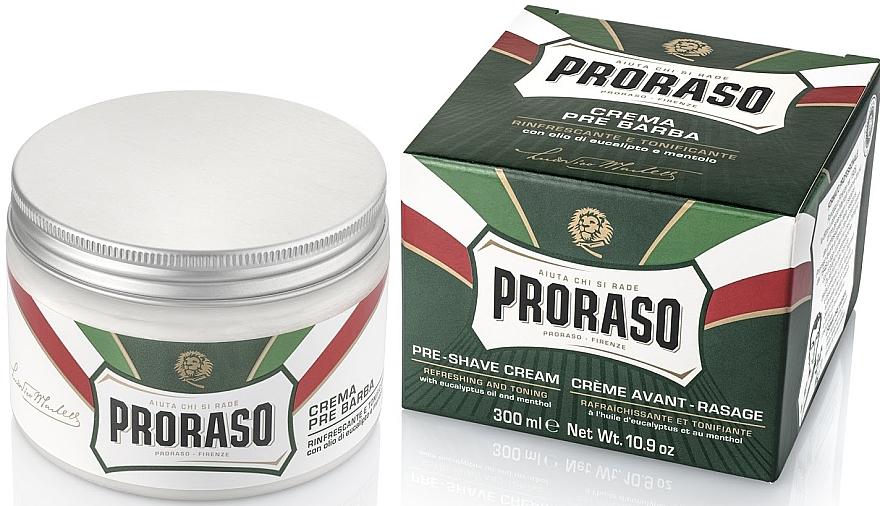 Crema preafeitado con aceite de eucalipto y mentol - Proraso Green Pre Shaving Cream