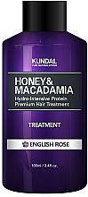 """Perfumería y cosmética Acondicionador con miel y macadamia """"rosa inglesa"""" - Kundal Honey & Macadamia Treatment English Rose"""