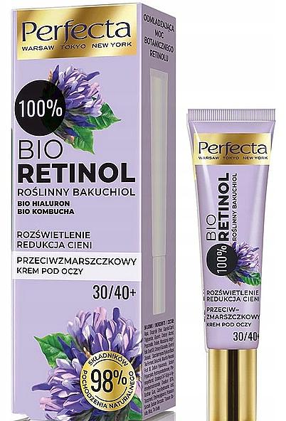 Crema antiarrugas para contorno de ojos con extracto de retinol y té negro - Perfecta Bio Retinol 30+/40+ Eye Cream