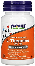 Perfumería y cosmética Complemento alimenticio en cápsulas de L-teanina, 200 mg - Now Foods L-Theanine Double Strength Veg Capsules