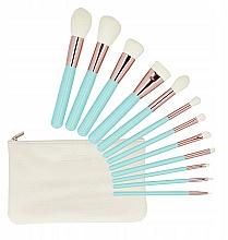 Perfumería y cosmética Set pinceles y brochas de maquillaje con neceser, 12uds. - Tools For Beauty MiMo Turquoise Set