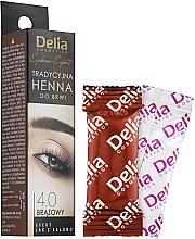 Perfumería y cosmética Tinte marrón para cejas - Delia Brow Dye Henna Traditional Brown