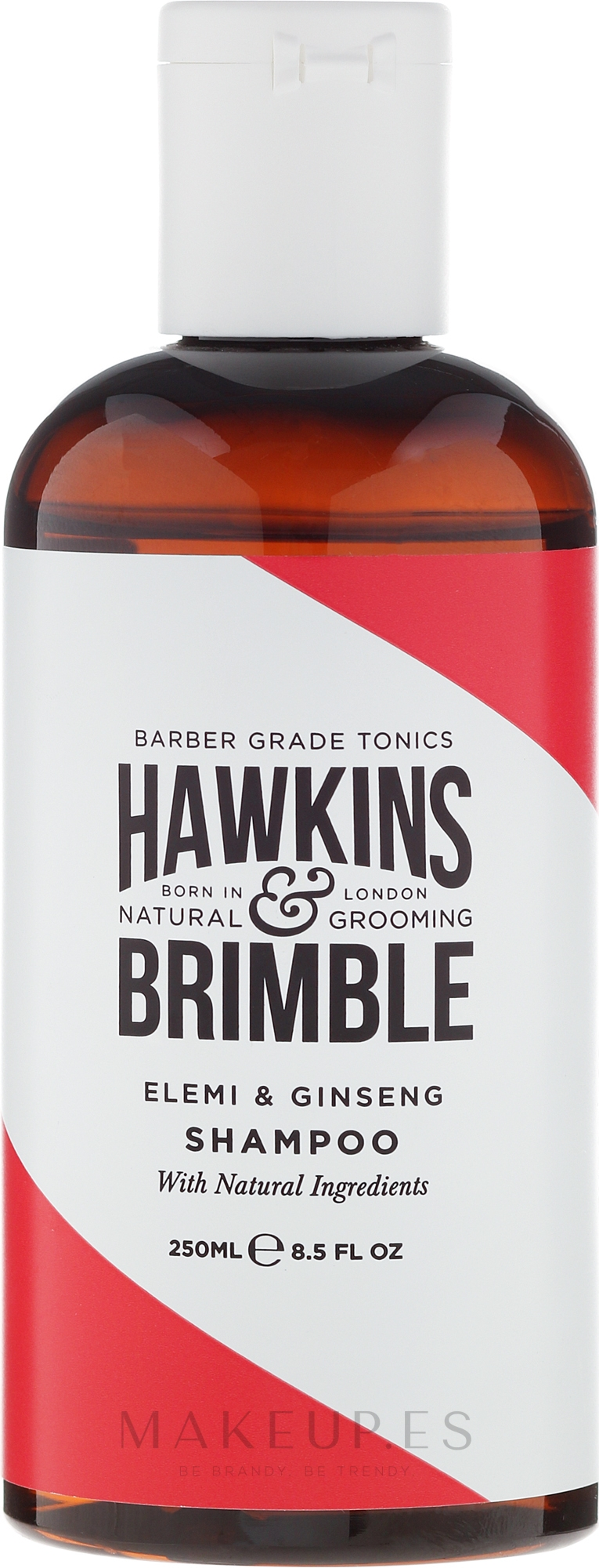 Champú con extracto de jengibre, aroma a elemi y ginseng - Hawkins & Brimble Elemi & Ginseng Shampoo — imagen 250 ml