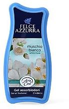 Perfumería y cosmética Gel absorbente de olores con aroma a flor de algodón y vainilla - Felce Azzurra Gel Air Freshener White Musk