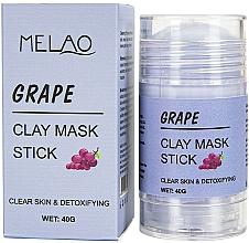 Perfumería y cosmética Mascarilla stick facial con arcilla y extracto de uvas - Melao Grape Clay Mask Stick