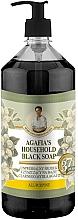 Perfumería y cosmética Jabón negro natural con hierbas - Las recetas de la abuela Agafia