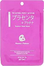 Perfumería y cosmética Mascarilla facial de tejido con placenta y platino - Mitomo Essence Sheet Mask Placenta + Platinum