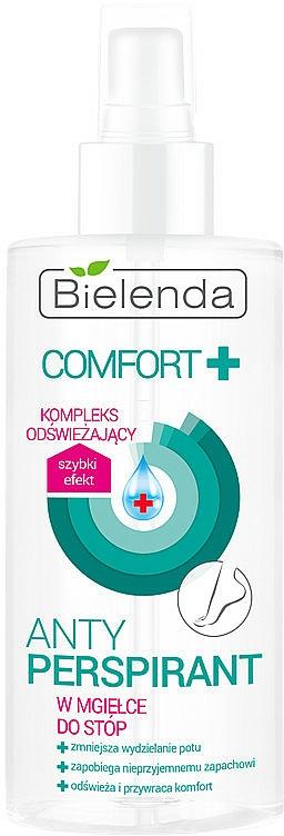 Spray antitranspirante con pantenol para la sudoración de pies - Bielenda Comfort Foot Antiperspirant Spray Mist