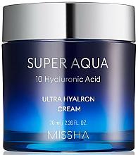 Perfumería y cosmética Crema facial hidratante con 10 tipos de ácido hialurónico - Missha Super Aqua Ultra Hyalron Cream