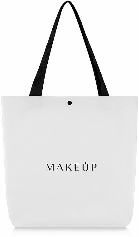 Bolso shopper, blanco (42x39x9cm) - MakeUp