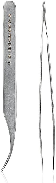 Pinza profesional para pestañas - Staleks Expert 40 Type 11