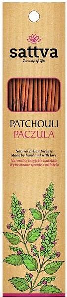 Varitas de incienso con aroma a pachulí - Sattva Patchouli