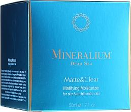 Perfumería y cosmética Crema facial hidratante con minerales del Mar Muerto - Mineralium Dead Sea Matte & Clear Matifying Moisturizer For Oily&Problemaic Skin