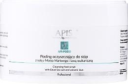 Perfumería y cosmética Exfoliante de pies con sal del Mar Muerto y lava volcánica - Apis Professional Api-Podo