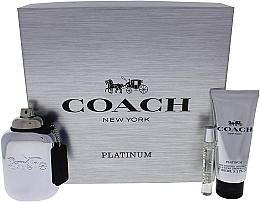 Perfumería y cosmética Coach Platinum - Set corporal (edp/100ml + edp/7.5ml + gel de ducha/100ml)