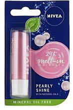 """Perfumería y cosmética Bálsamo labial con aceite natural """"Pearl Glow"""" - Nivea Lip Care Pearl & Shine Limited Edition"""