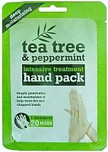 Perfumería y cosmética Mascarilla hidratante guantes de manos con extractos de árbol de té y menta  - Xpel Marketing Ltd Tea Tree & Peppermint Deep Moisturising Hand Pack