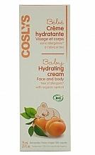 Perfumería y cosmética Crema para rostro y cuerpo con aceite de albaricoque orgánico - Coslys Baby Care Baby Hydrating Creamwith Organic Apricot Oil