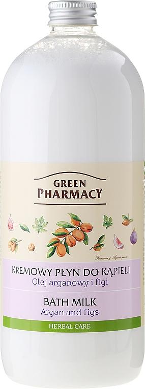 Leche de baño con aceite de higo y argán - Green Pharmacy