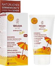 Perfumería y cosmética Crema protectora solar para bebés y niños, pieles sensibles SPF 30 - Weleda Edelweiss Baby&Kids Sun SPF 30
