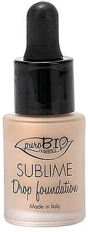 Base de maquillaje con extracto de argán - PuroBio Sublime Drop Foundation