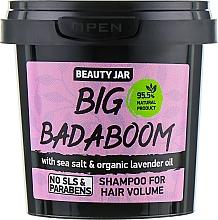 Perfumería y cosmética Champú voluminizador con sal marina y aceite de lavanda orgánico - Beauty Jar Shampoo For Hair Volume