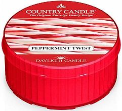 Perfumería y cosmética Vela de té con aroma a menta & eucalipto - Country Candle Peppermint Twist Daylight