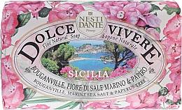 Perfumería y cosmética Jabón con buganvilla, sal marina & papiro - Nesti Dante Dolce Vivere Sicilia