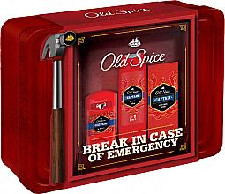 Perfumería y cosmética Set (desodorante/50g + gel de ducha/250ml + loción aftershave/100ml) - Old Spice Captain Grooming Tin