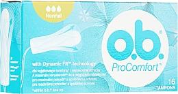 Perfumería y cosmética Tampones suaves con ranuras, 16 uds. - o.b. ProComfort Normal Tampons