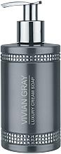 Perfumería y cosmética Jabón de manos líquido cremoso con extracto de aloe vera, aroma a fresia y mango - Vivian Gray Grey Crystals Luxury Cream Soap